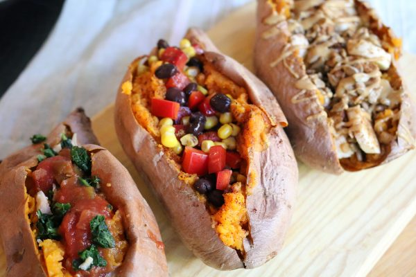 Stuffed Sweet Potatoes Three Ways
