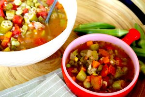 Vegetable Gumbo Soup with Brown Rice