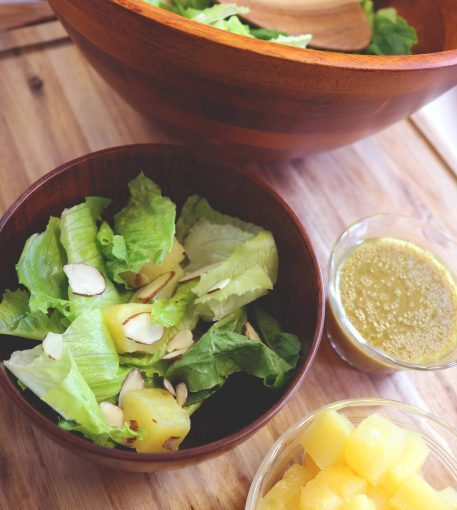 Green Salad with Pineapple