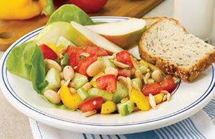 Bean Cucumber salad