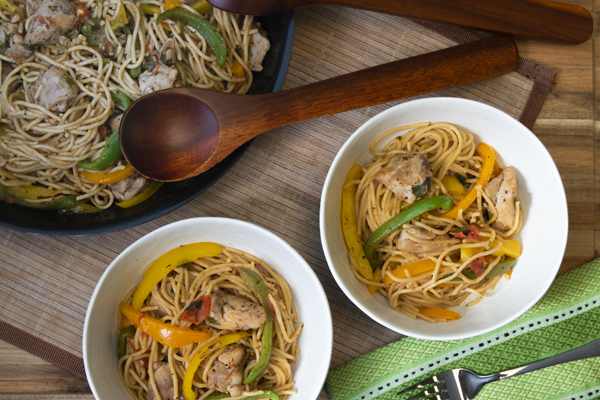Warm Chicken with Pasta and Vegetables